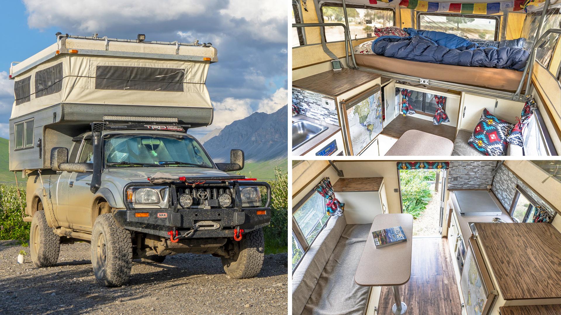 Living Full Time In A Slide In Pop Up Truck Camper Tacoma Sunlite